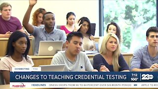 Changes to teaching credential testing