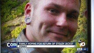 Family hoping for return of stolen jacket