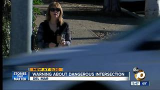 Warning about dangerous intersection