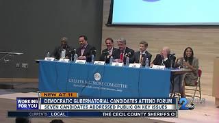 Democratic gubernatorial candidates meet for town hall