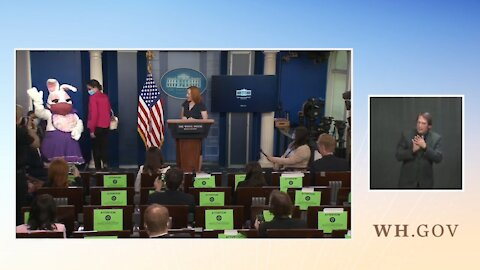 CRINGE: Easter Bunny Crashes WH Briefing as Psaki Struggles to Cover for Biden Lies