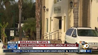 Police investigating possible arson at mosque