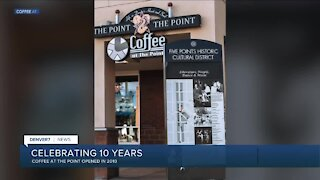 COFFEE AT THE POINT. Coffee and wine lounge in 5 Points is celebrating its 10th anniversary.