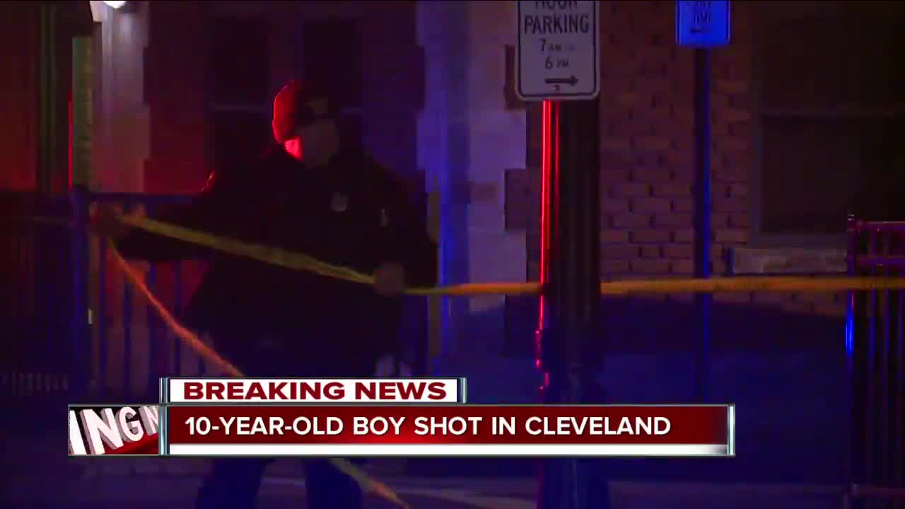 Authorities investigating after 10-year-old boy shot in Cleveland