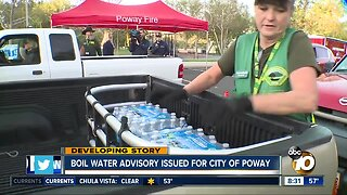Boil advisory affecting thousands in Poway