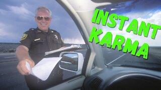 Instant Karma - Police Karma Speeding & Improper Passing