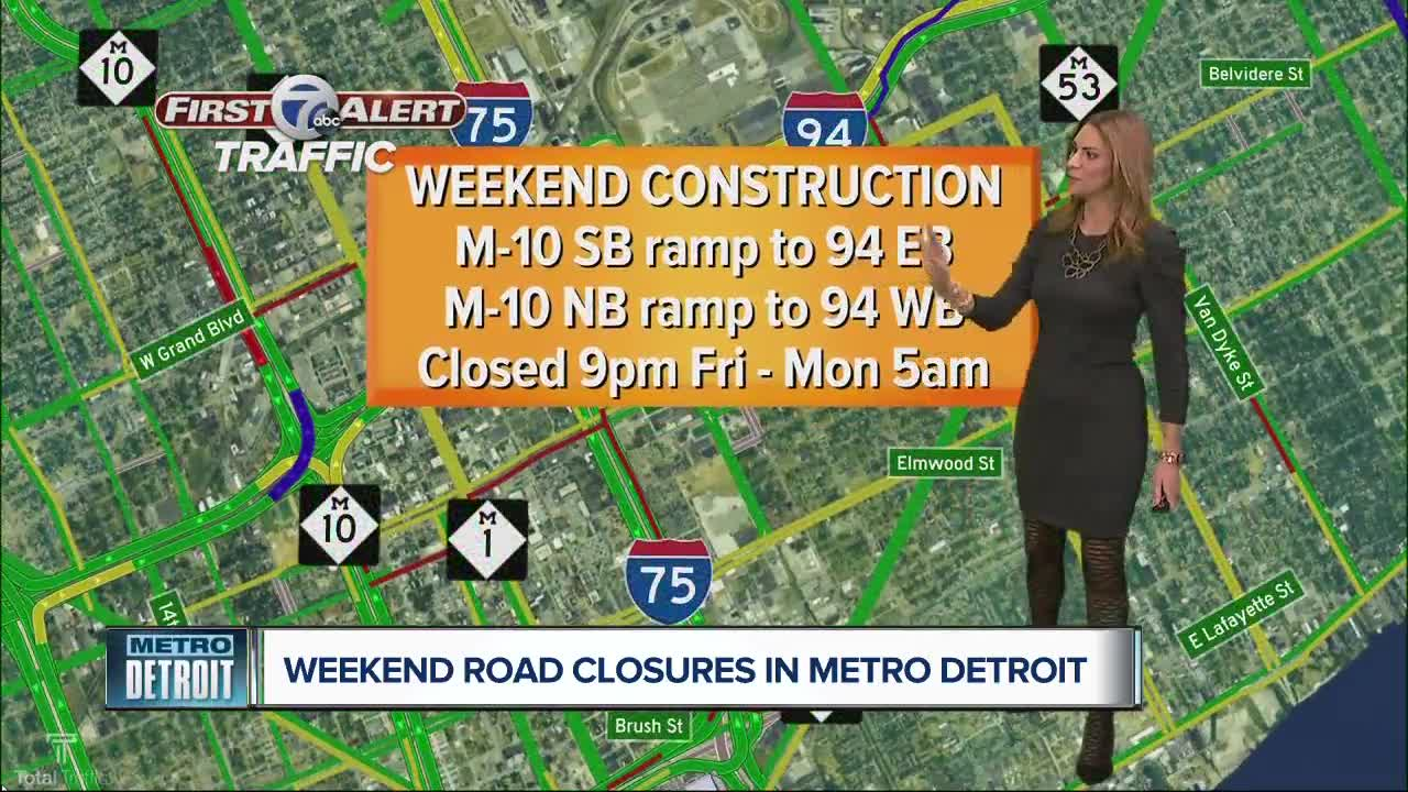Looking at this weekend's road construction