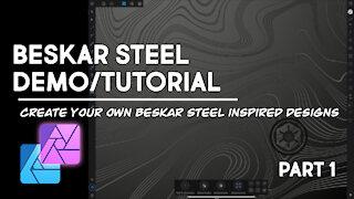 Beskar Steel Demo - Affinity Designer - Part 1