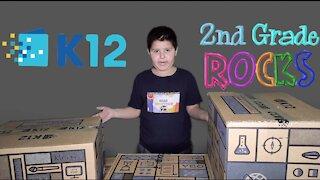 2nd Grade K12 Home School Unboxing Supplies Kit 2020
