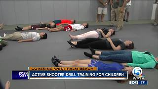 Active shooter drill training held for children