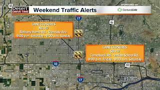 Valley road closures this weekend