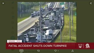 Fiery, deadly wreck shuts down Florida's Turnpike southbound in west Delray Beach