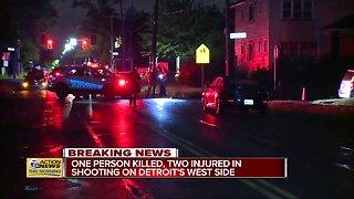 1 dead, 2 injured after shooting on Detroit's west side