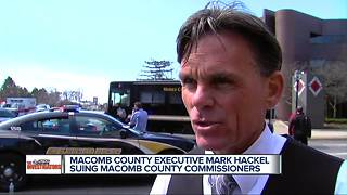 Macomb County Executive Mark Hackel suing Macomb County Commissioners