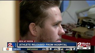 Athlete released from hospital