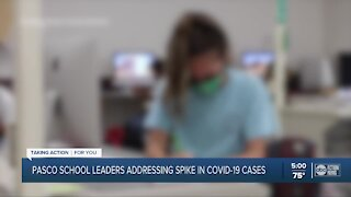 Pasco school leaders addressing spike in COVID-19 cases