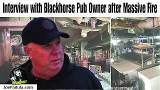Owner of the Blackhorse Jeff Robinson tells the full story about the fire that ravaged his business
