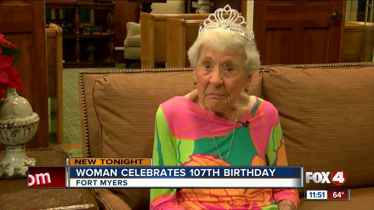 Woman celebrates 107th birthday in Southwest Florida