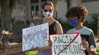 Protesters gather in Lake Worth Beach