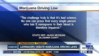 Lawmakers debate marijuana driving laws