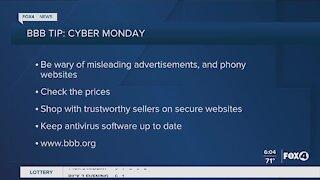 Better Business Bureau Cyber Monday tips