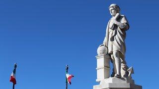 Demonstrators topple Christopher Columbus statue in Baltimore