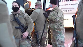 U.S. Military Troops are Battle Ready to Protect Washington DC U.S. Capitol