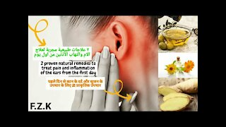 2 effective natural remedies _ treating ear pain & inflammation_whistling ears (tinnitus) from day 1