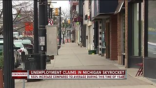Unemployment claims in Michigan skyrocket