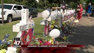Jackson honors VA Beach victims at noon