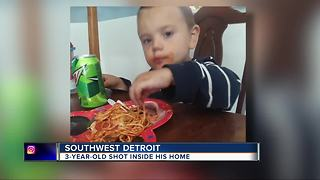 Boy, 3, recovering after shots fired into home on Detroit's southwest side