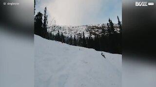 Un salto en ski raté !