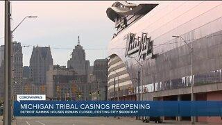 Michigan tribal casinos begin to reopen, Detroit casinos remain closed