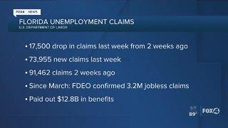 Floridian jobless claims drop