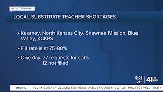 Local substitute teacher shortages