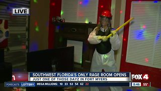 One and only Rage Room opens in Fort Myers