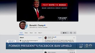 Trump supporters, detractors react to Facebook continuing to ban former president