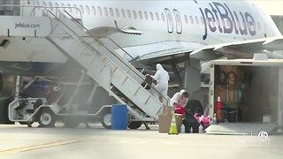 11AM REPORT: Coronavirus patient arrives on JetBlue flight at Palm Beach International Airport