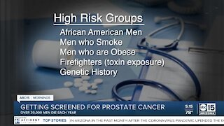 Getting screened for prostate cancer