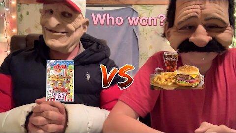 Gummy Food VS. Real Food Challenge (Mukbang)