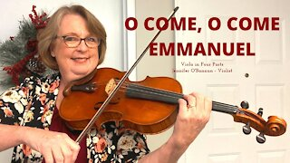 O Come, O Come Immanuel   Christmas Hymn for Viola in Four Parts