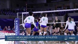 College student athletes prepare to practice again