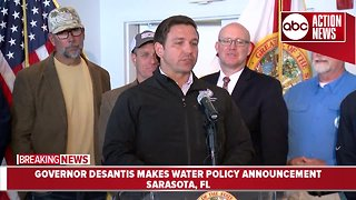 Governor Ron DeSantis signs executive order to implement major water reforms