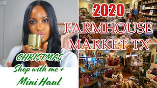 2020 Christmas Decorations Shop with me + mini Haul | Farmhouse Market Tx