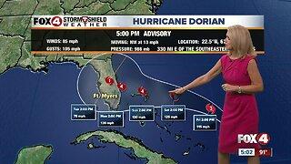 Hurricane Dorian forecast to become a category 4 storm