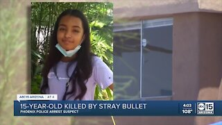 Suspect arrested after teen killed by stray bullet in Phoenix