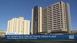 Arizona hospitals can activate crisis plans