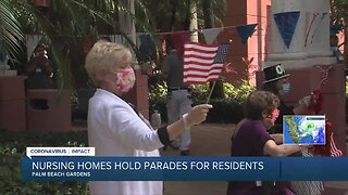 Nursing homes hold parades for residents in Palm Beach Gardens