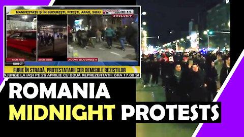 ROMANIA MIDNIGHT PROTESTS Wake Up The People Hugo Talks #lockdown