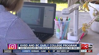 The Kern High School District and Bakersfield College offer early college program for students